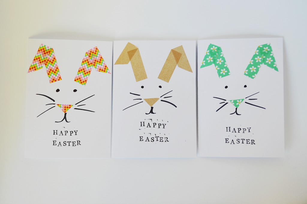 Made Easter Bunny Greeting Card DIY – Homemade Easter Cards